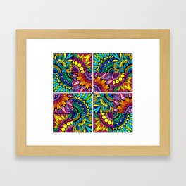 Color Block Puzzle Mandalas Framed Art Print