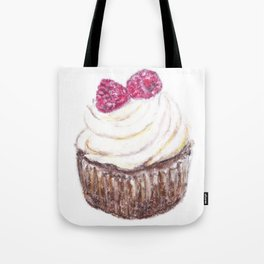 Raspberry cupcake Tote Bag