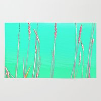 grass Area & Throw Rugs featuring Grass by Anne Millbrooke