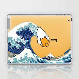 gudetama's great wave Laptop & iPad Skin