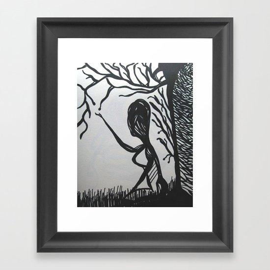 Dying Tree Framed Art Print