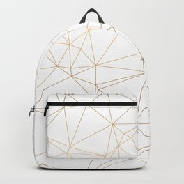 Geometric Gold Minimalist Design Backpack