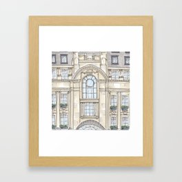 Hotel Facade Illustration Framed Art Print