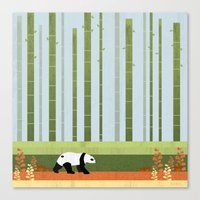 bamboo Canvas Prints featuring Bamboo by Kakel