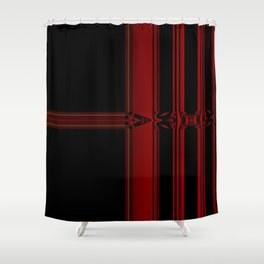 Vibrant Red Pattern Design Shower Curtain