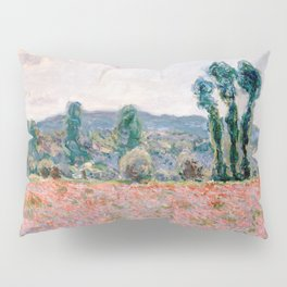 Poppy Field in Giverny by Claude Monet Pillow Sham