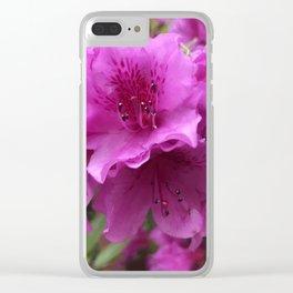Single Azalea Cluster Close Up Clear iPhone Case
