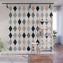 Scandinavian pattern . Grunge. Diamonds . Wall Mural