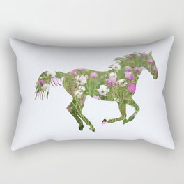 The horse is the meadow Rectangular Pillow
