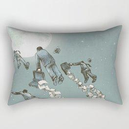 Flight of the Salary Men (color option) Rectangular Pillow