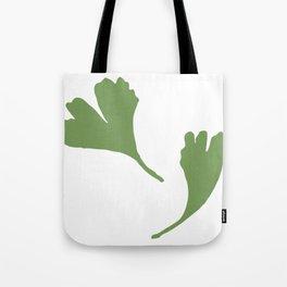 Minimalist Ginkgo Leaves Tote Bag