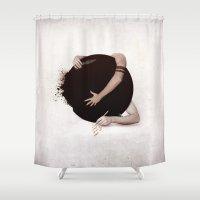 """teen wolf Shower Curtains featuring Teen Wolf-""""Dark Hearts"""" by radruby"""