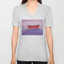Red Dory Reflections Unisex V-Neck