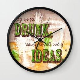 Dos Tequilas, Por Favor Wall Clock