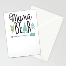 Mama Bear Mom Parent Shirt Funny Mothers Gift Stationery Cards