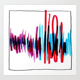 Welcome Home Soundwaves Art Print