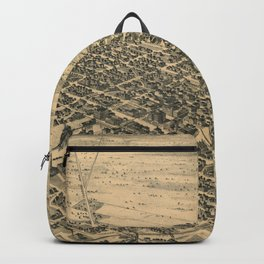 Vintage Pictorial Map of Stockton California (1895) Backpack