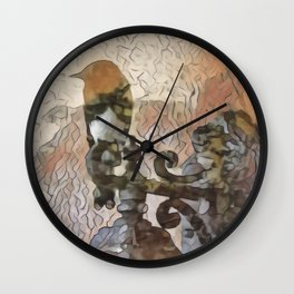 Bird on a Perch Wall Clock