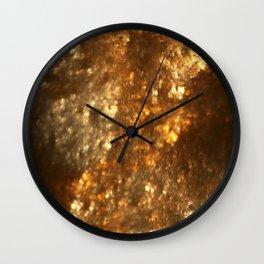 Fractal Art - Gold mine Wall Clock