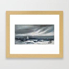 Sailing The Ocean Blues Framed Art Print