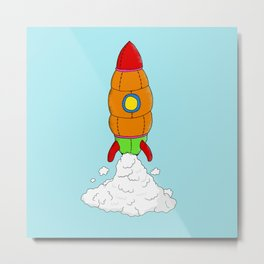 plush rocket toy Metal Print