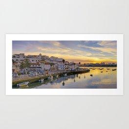 Ferragudo at sunset, Portugal Art Print