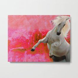 White Horse Red Soul Metal Print
