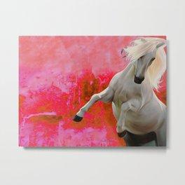 White Horse Red Soul Metal Print