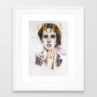 lana Framed Art Prints featuring Lana by Kim Morrow