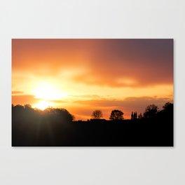 Country Farm Sunset Canvas Print
