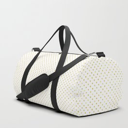 Small Gold Watercolor Polka Dot Pattern Duffle Bag