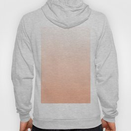 Modern coral watercolor paint brushstrokes ombre pattern Hoody