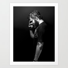 Ryan Dunn... A Book of Beards Art Print