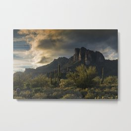 Rainy Day in the Superstitions Metal Print