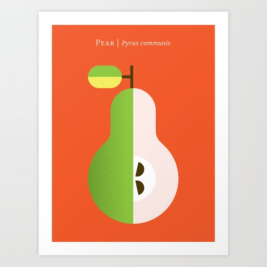 Fruit: Pear Art Print