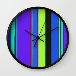 Bright stripes 2 Wall Clock