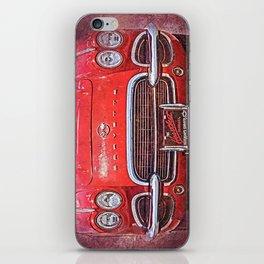 Vintage Red Vette iPhone Skin