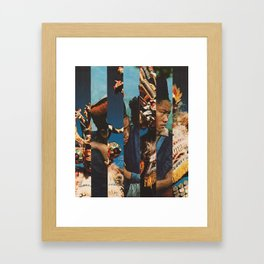Person Pitch Framed Art Print