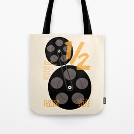 Federico Fellini, 8 e 1/2 (eight and half) italian movie poster, 8 1⁄2, otto e mezzo Tote Bag