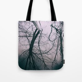 Tree in Cloud Reflection Tote Bag