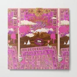 MORNING PSYCHEDELIA (Purple/pink) Metal Print