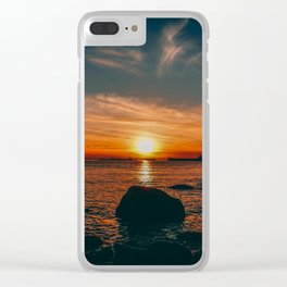 Sunset in Stanley Park Clear iPhone Case