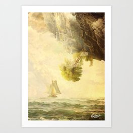 To Misty Mountains Art Print