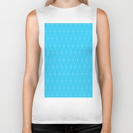 Simple Geometric Triangle Pattern - White on Teal - Mix & Match with Simplicity of life Biker Tank