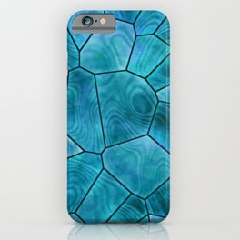 Swimming Pool Blue Stained Glass Design iPhone Case