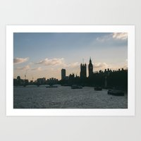 London from Waterloo Bridge Art Print