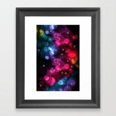 Happy Rainbow Bubbles and Sparkles Framed Art Print