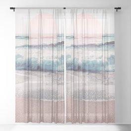Sea, Salt, Sand and Sun Pastel Vibes Sheer Curtain