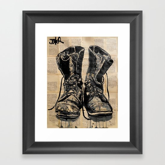 these old boots Framed Art Print
