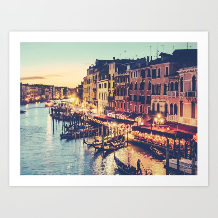 Sunset in Venice Fine Art Print Art Print